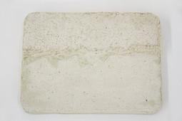 Concrete Asphalt Platter with Cigarette, 2017.