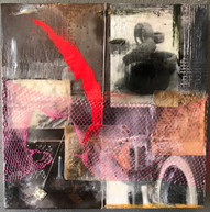 Untitled, encaustic and mixed media, 2018.