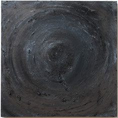 """Untitled, oil and graphite on board, 36"""" x 36"""" x 2"""", 2021."""