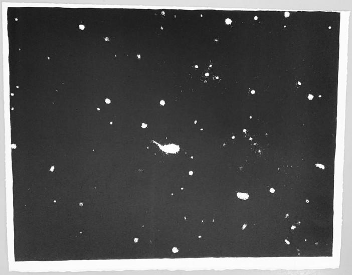 Vija Celmin's Galaxy 1975, 2019.