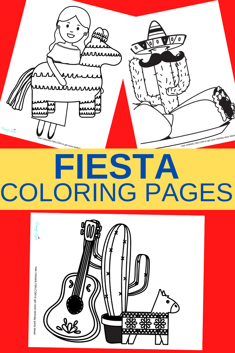 free printable fiesta coloring pages for kids
