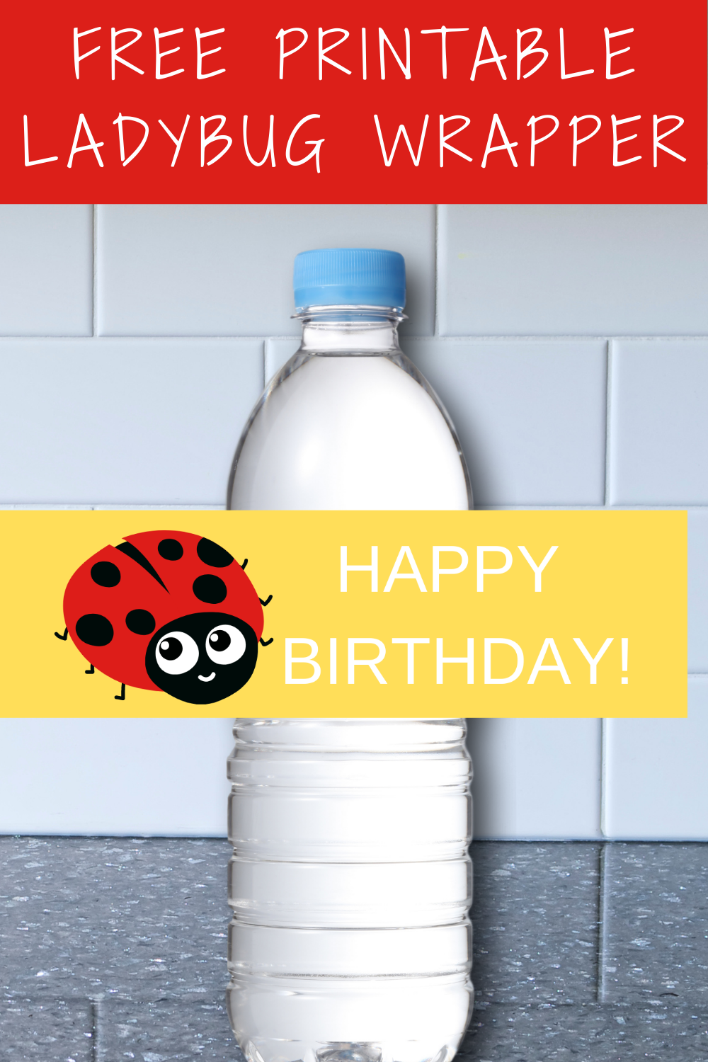 ladybug 1st birthday water bottle labels for toddlers