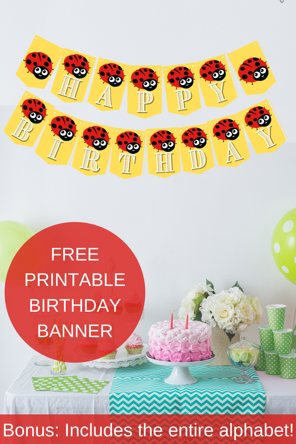 red and black birthday party decorations