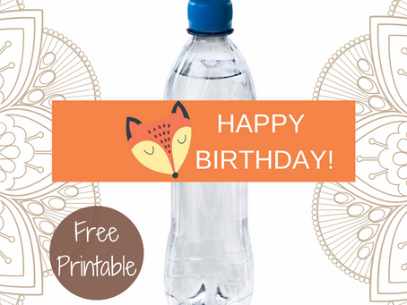 Rustic Water Bottle Label | Free Printable Rustic Animal Themed Birthday Party Ideas | DIY Décor