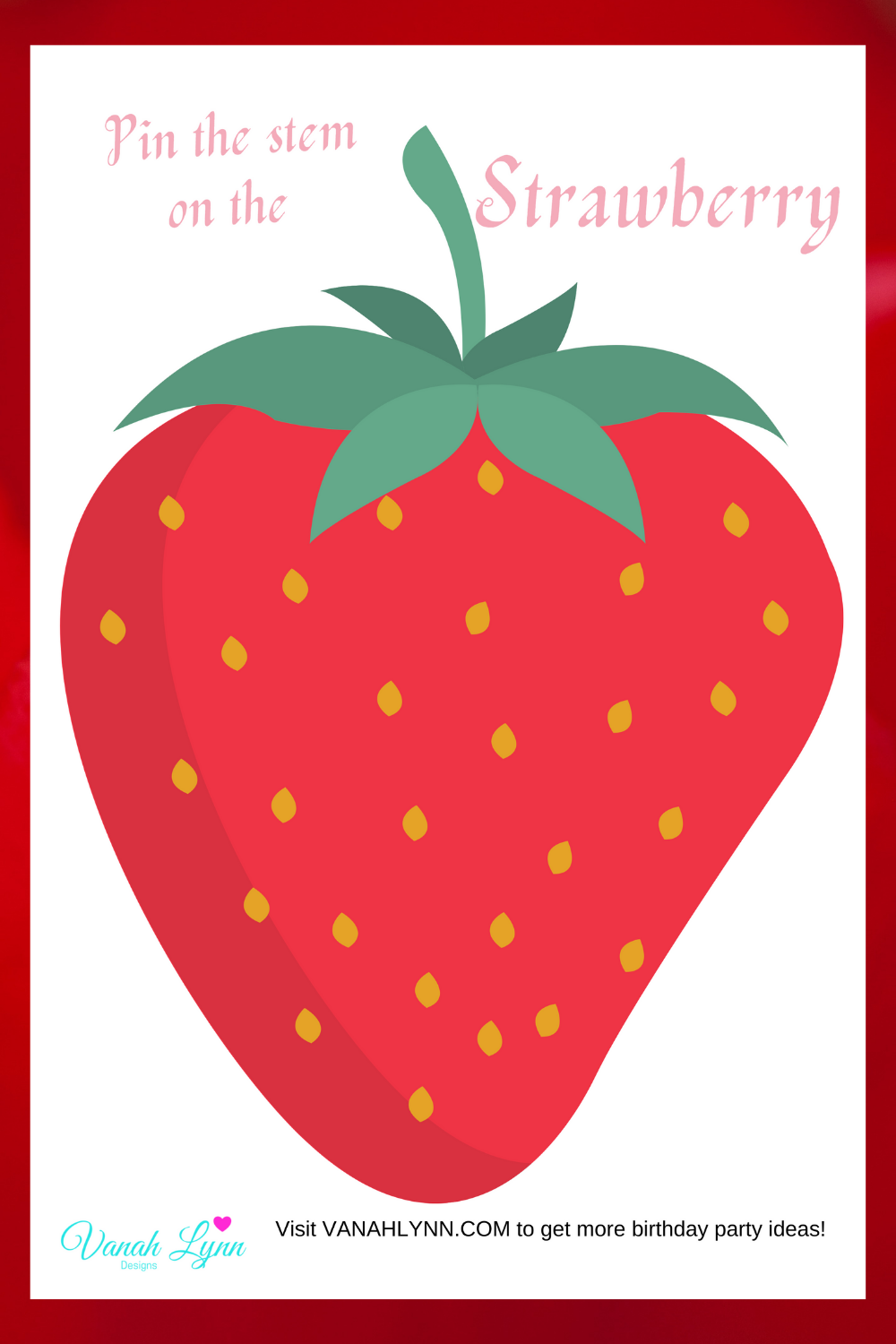 strawberry birthday party game ideas for kids