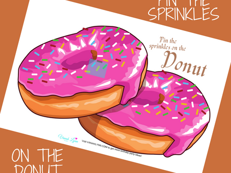 Pin the Sprinkles on the Donut | Donut Themed Birthday Party Game | Donut Birthday Activity Ideas
