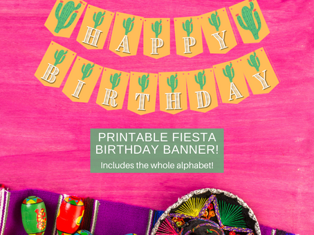 Fiesta Themed Banner: Cactus Happy Birthday Banner and Cactus Alphabet Banner | Fiesta Party Décor