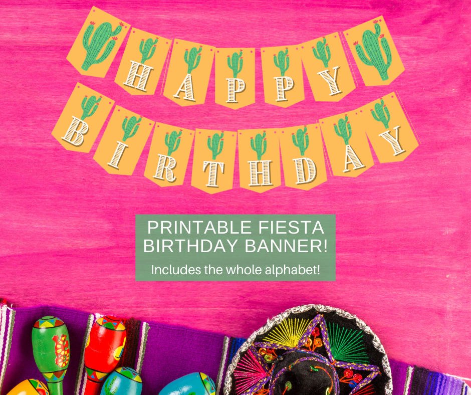 fiesta themed birthday banner for a party