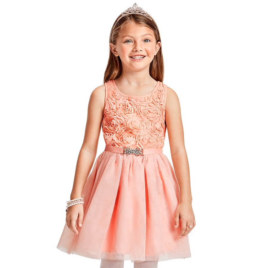 Pink easter dress on small child
