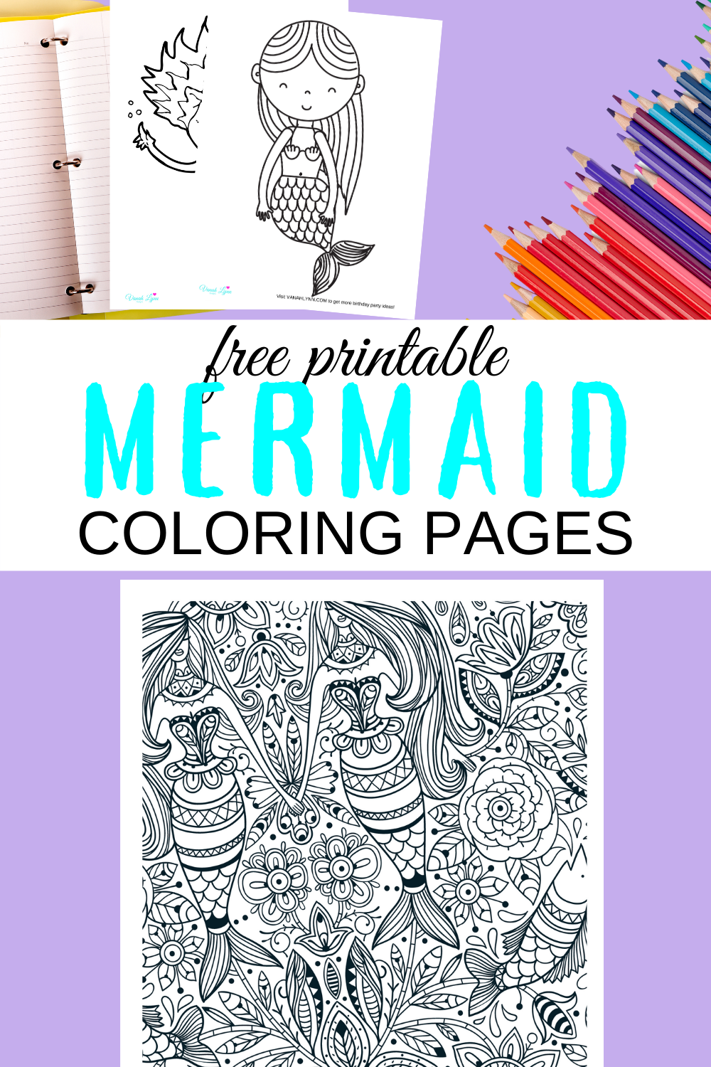 cute and fun rainy day mermaid coloring sheets