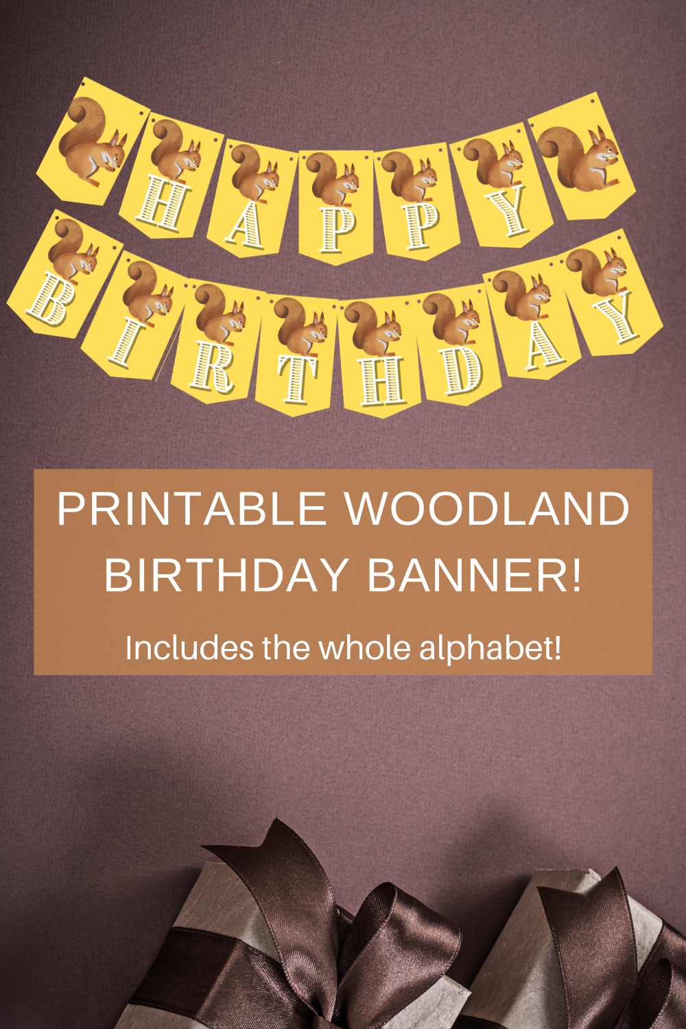 first birthday woodland animal birthday party banner