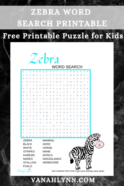 zebra birthday party games for little kids