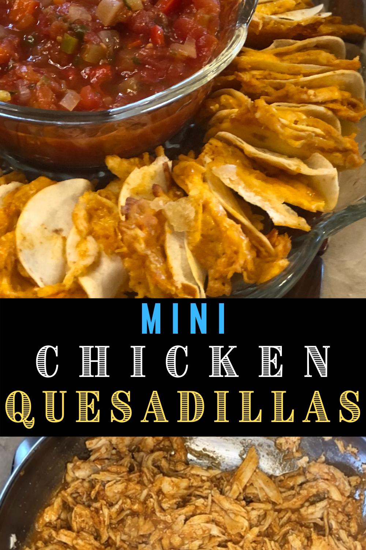 mini shredded chicken quesadilla recipe