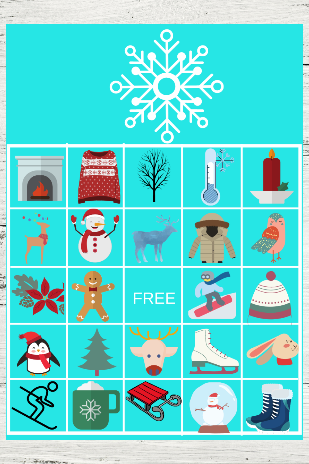 free printable winter themed birthday party games