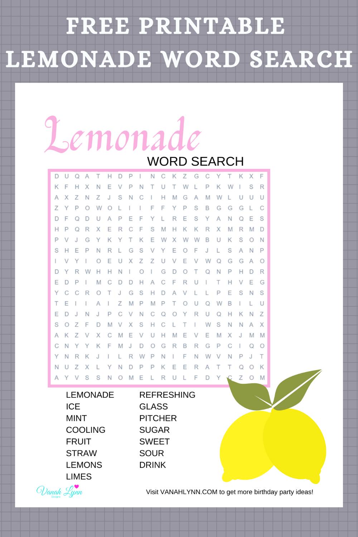 lemonade birthday party games for a summer birthday
