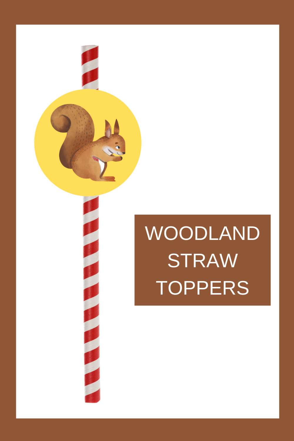 Free printable woodland straw toppers are a fun and easy way to add a little extra fun to your 1st birthday woodland themed birthday décor. Simply cut and print this free printable woodland party idea. Then tape the circle to a fun straw. These can also be used as a cupcake topper. Be sure to save this cute woodland cupcake idea for later use.  Head on over to our blog, VanahLynn.com.