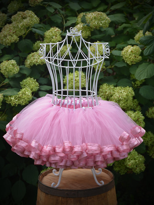 rosy mauve tutu skirt for birthday
