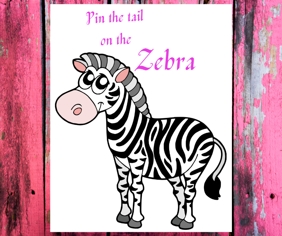 free printable pin the tail on the zebra