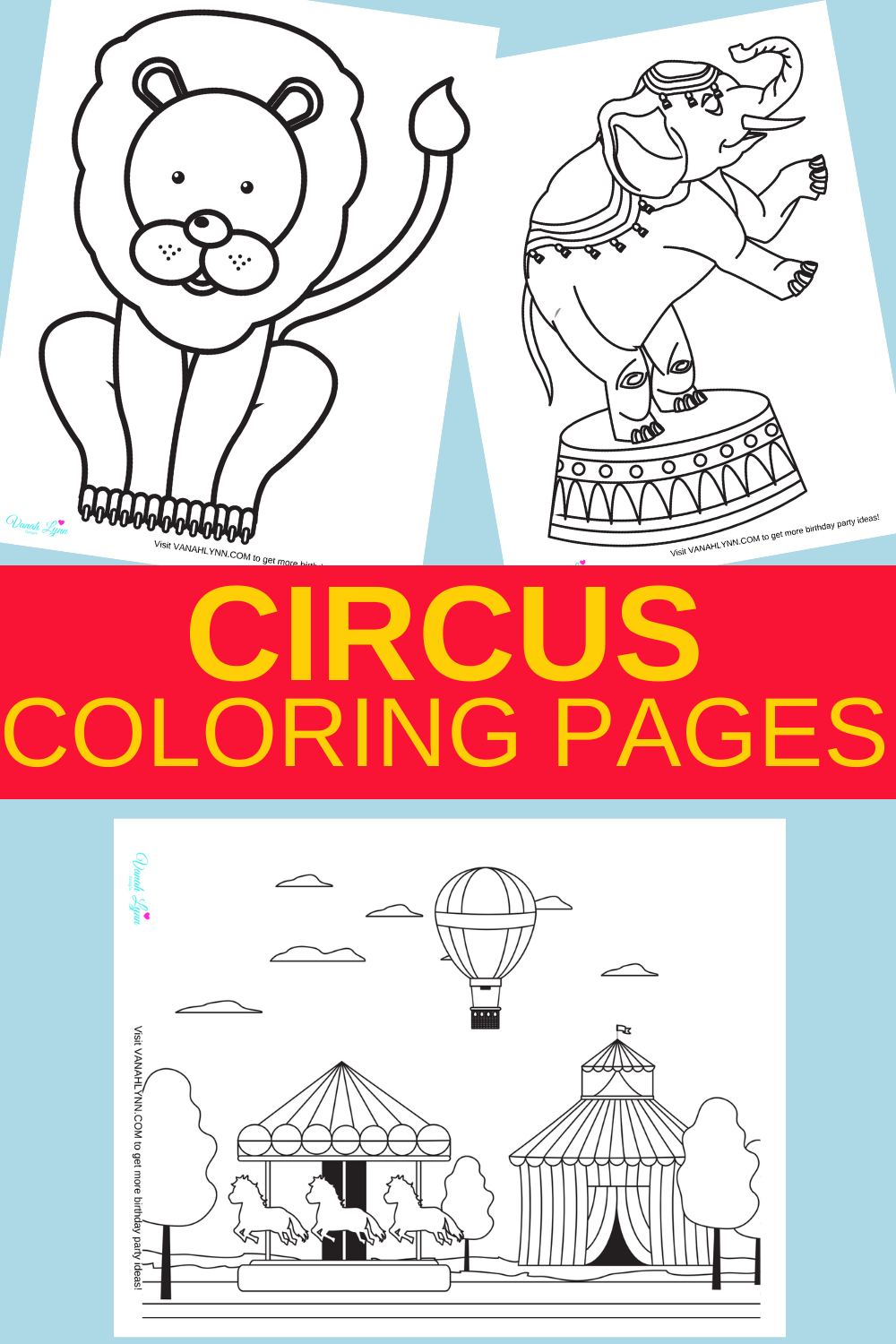circus animal coloring pages for free