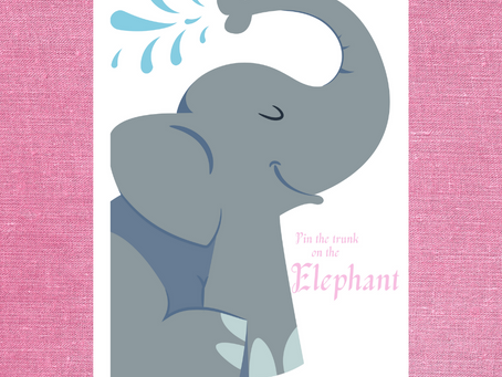 Pink the Trunk on the Elephant | Elephant Themed Birthday Party Game | Elephant Birthday Activity