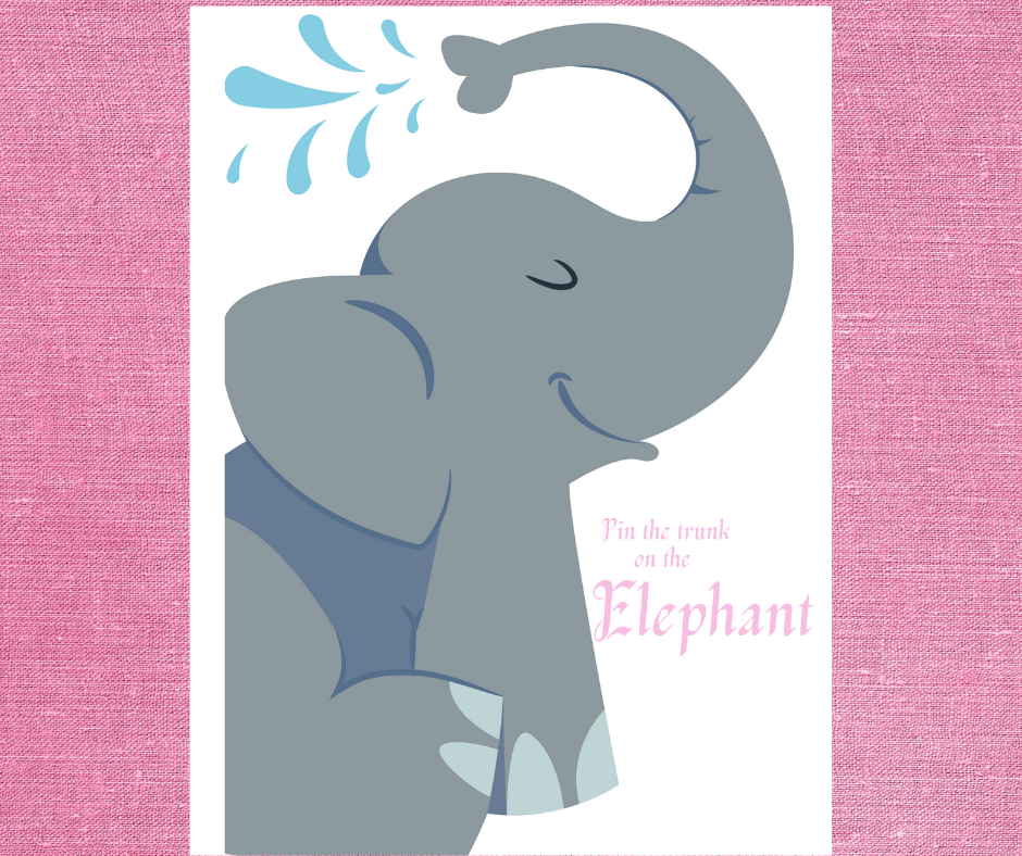 free printable elephant birthday party games for kids
