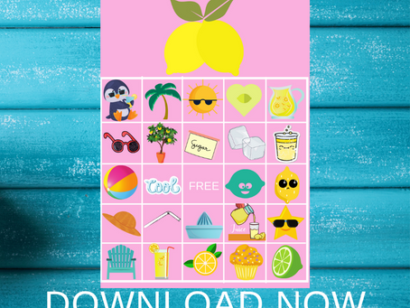Lemonade Bingo | Lemonade Themed Party Game Idea | Lemonade Birthday Party Activity