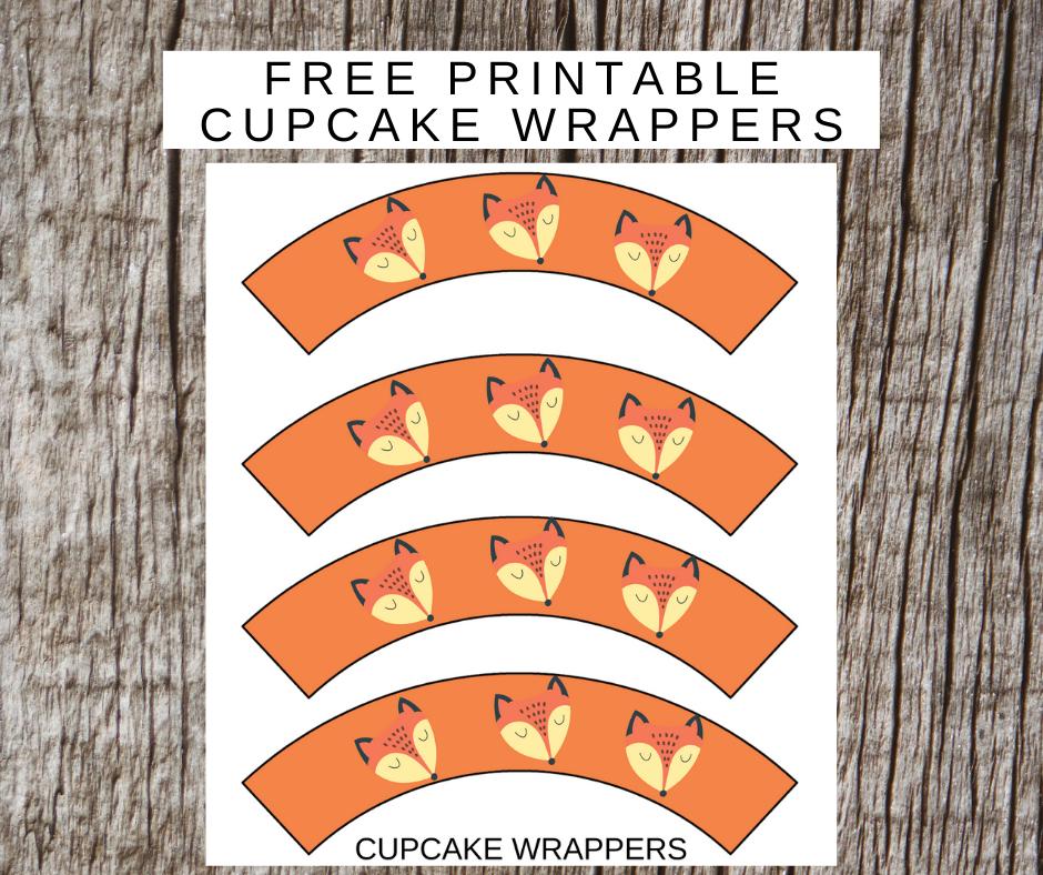 free printable rustic cupcake wrappers