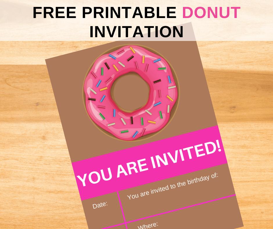 free donut birthday invitation template