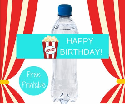 Carnival Happy Birthday Water Bottle Labels FREE