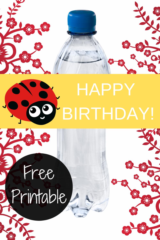 free printable ladybug water bottle wrapper