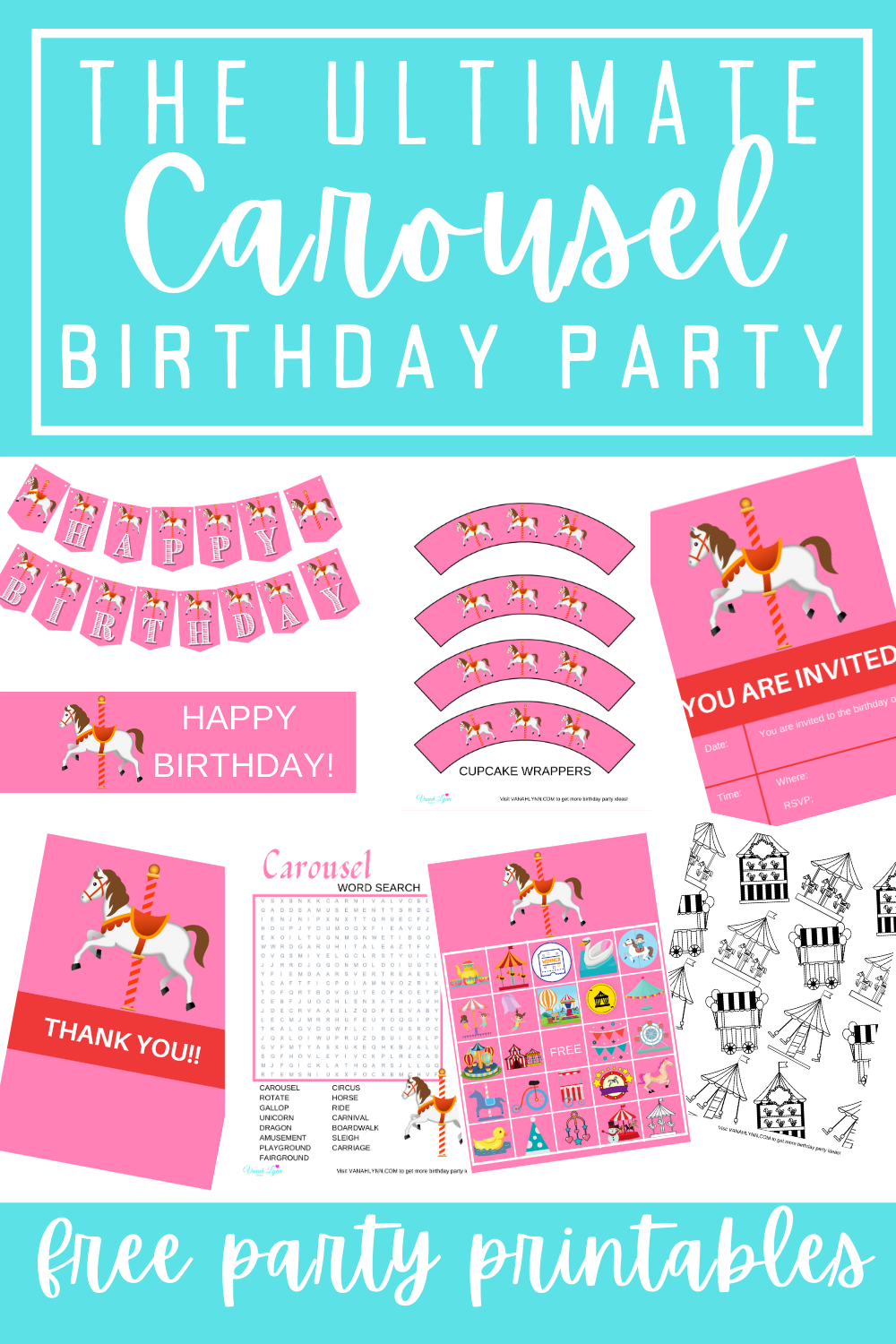 free party printables for toddler girl birthday party