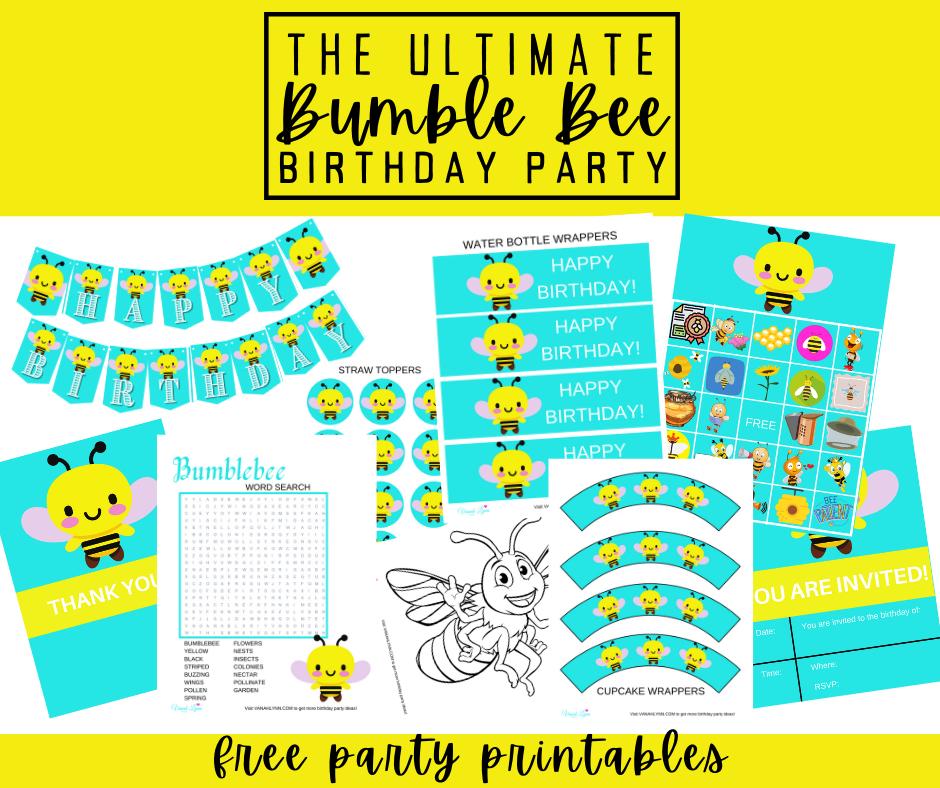 free printable bumble birthday party kit