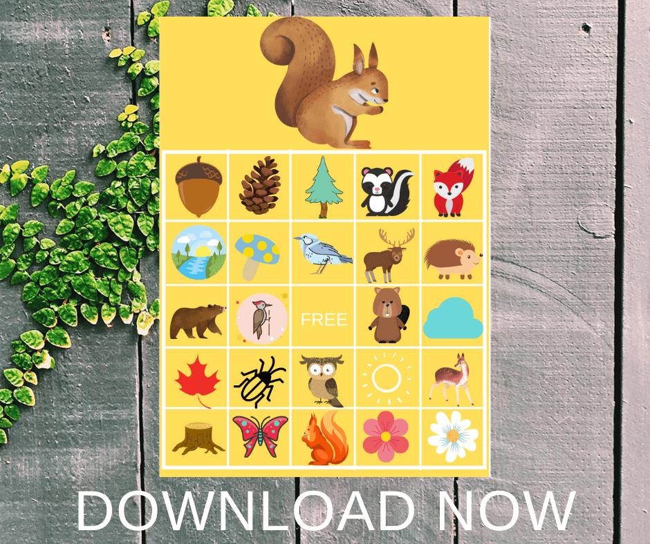 animal bingo printable