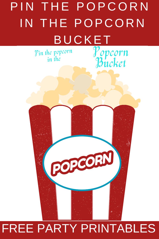 free printable popcorn birthday party game