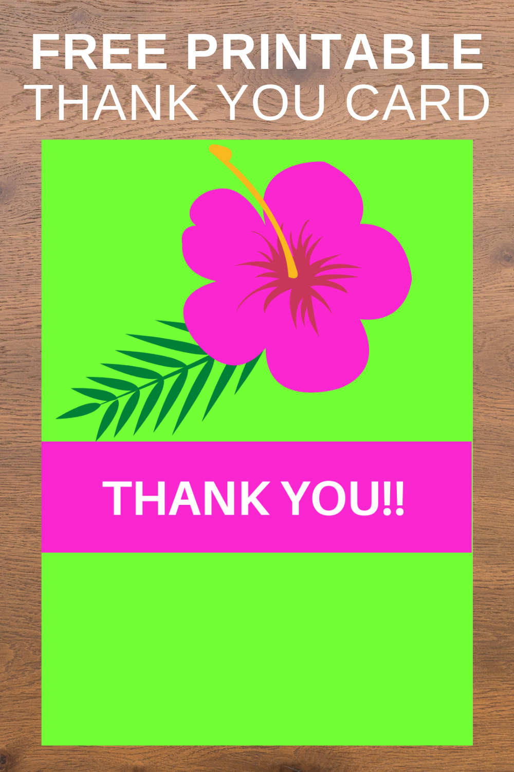 first birthday tropical party thank you note