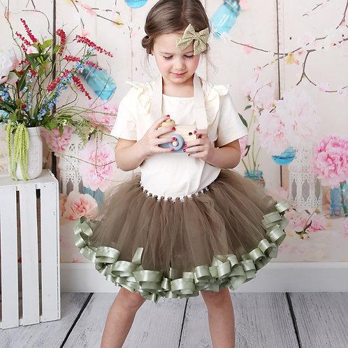 willow green tutu skirt on child