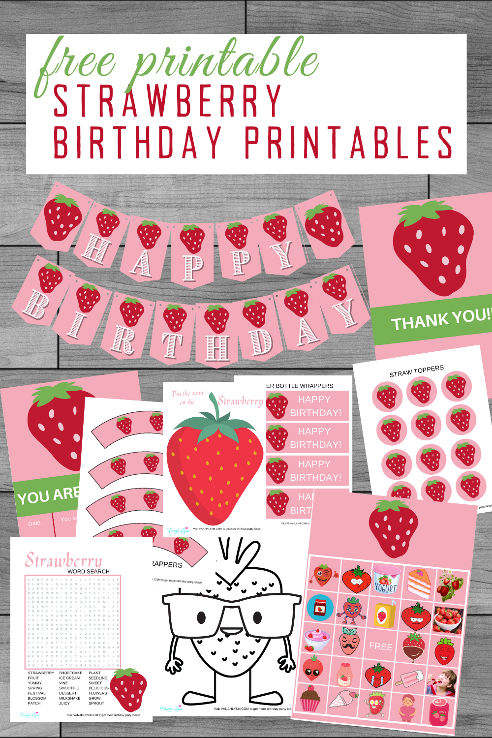 toddler girls birthday party free printable supplies