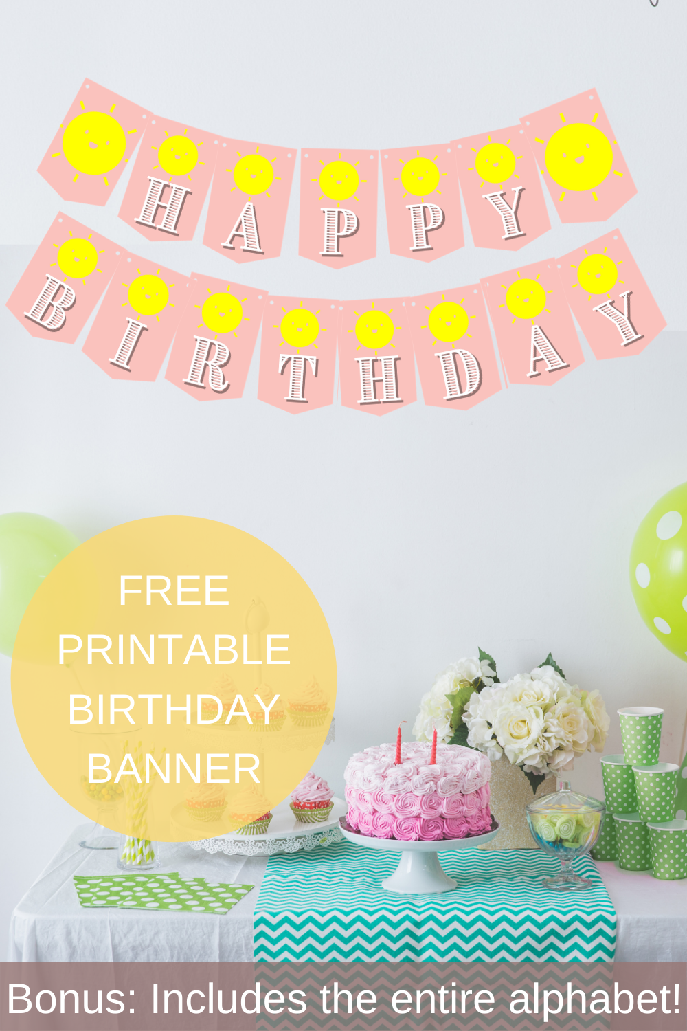 first birthday party sunshine banner for a little girl