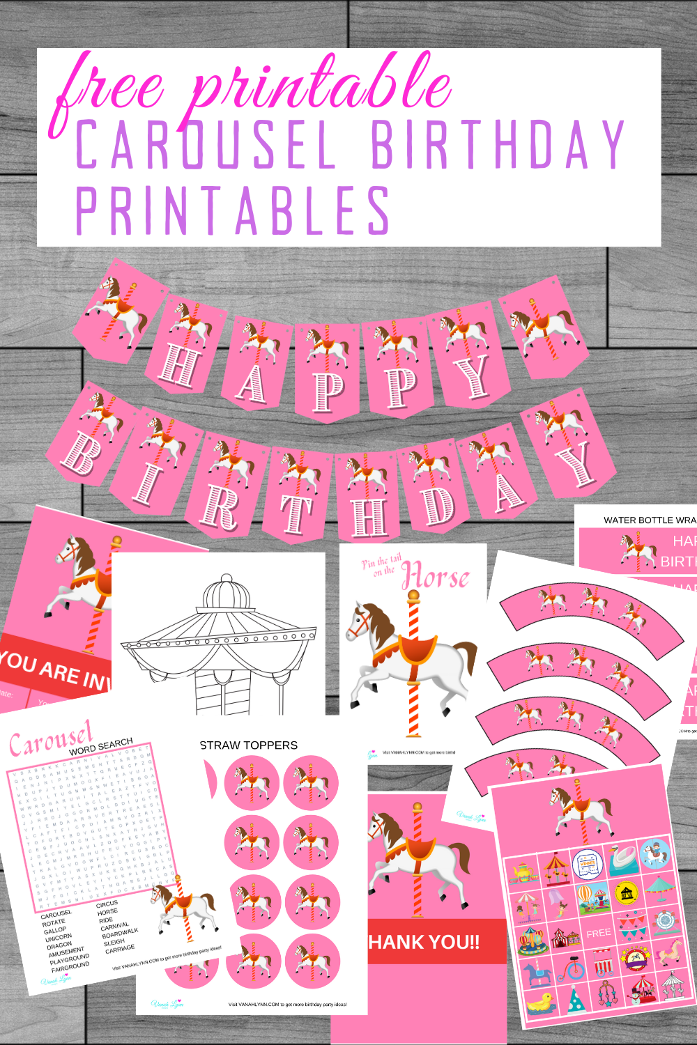 carousel 1st birthday party ideas for kids