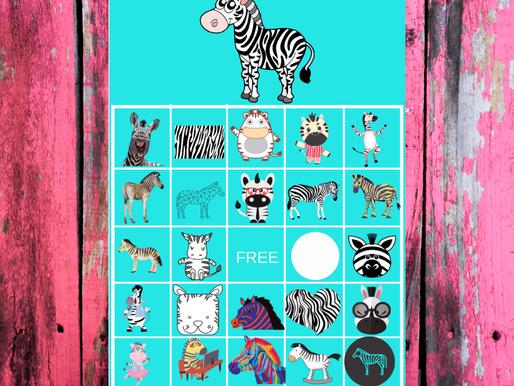 FREE Printable Zebra BINGO