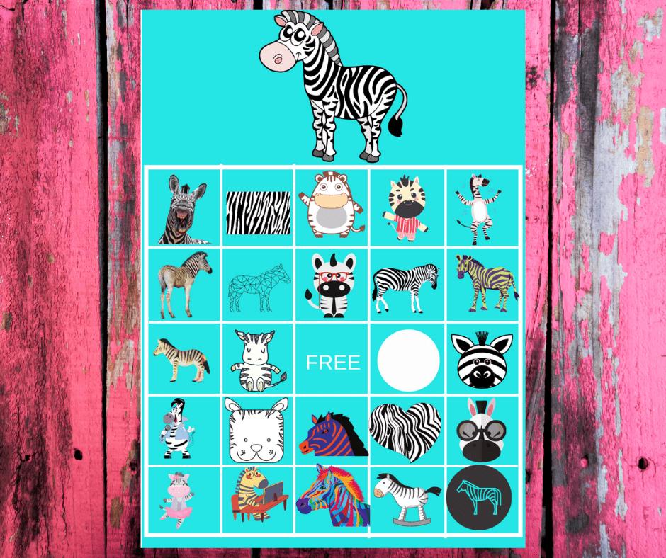 zebra bingo