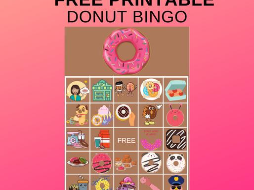 FREE Printable Donut BINGO