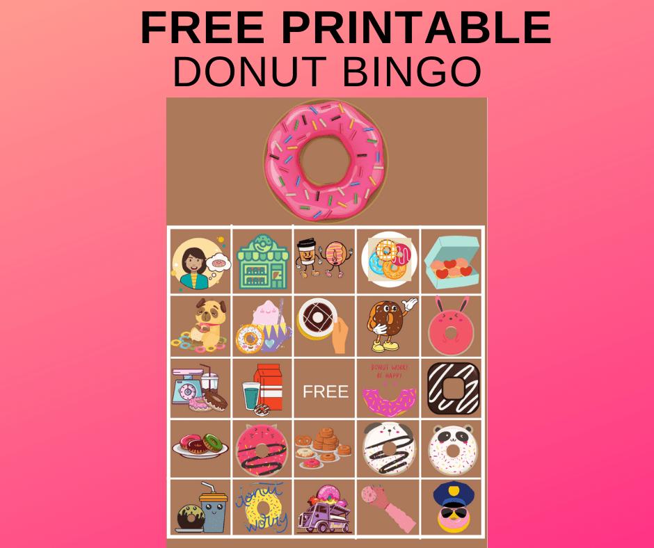 free donut bingo cards