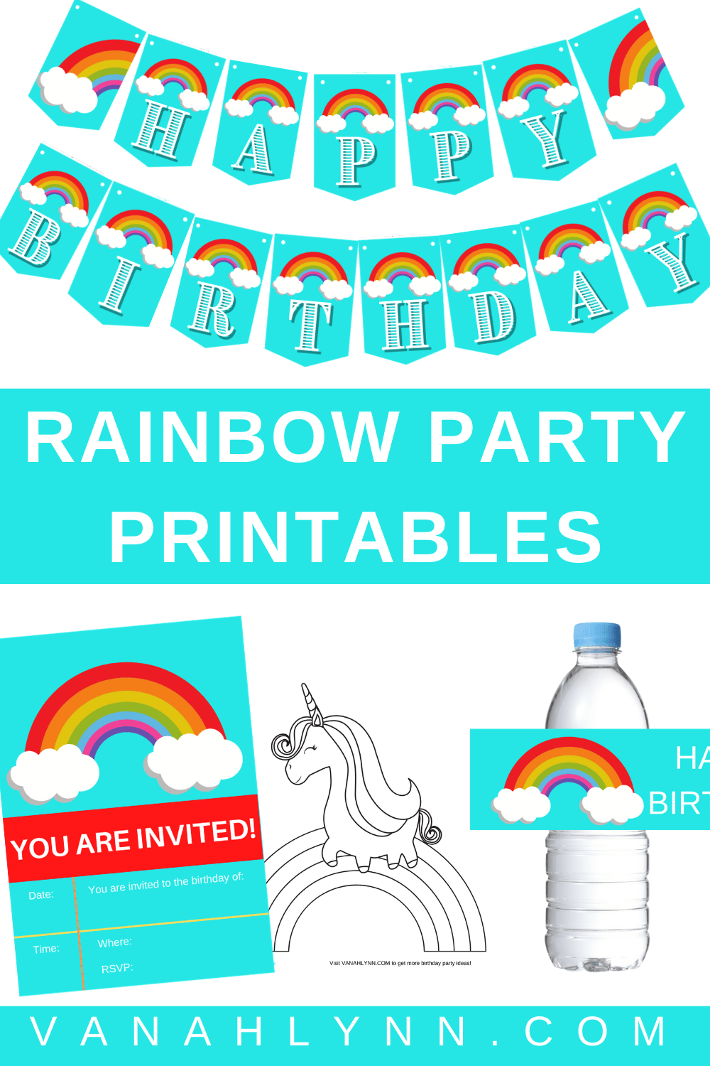 rainbow party decoration ideas