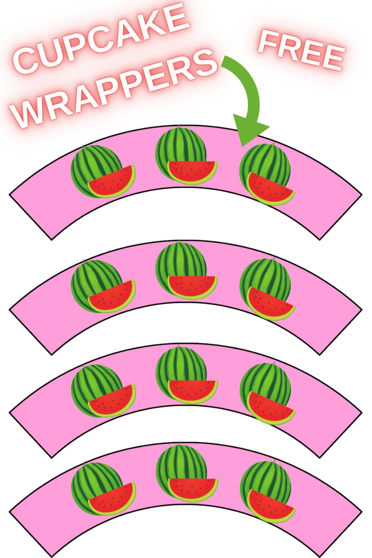 watermelon birthday decorations for dessert table