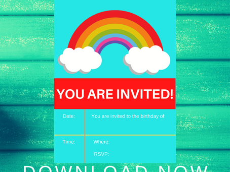 Rainbow Birthday Invitation | Free Printable