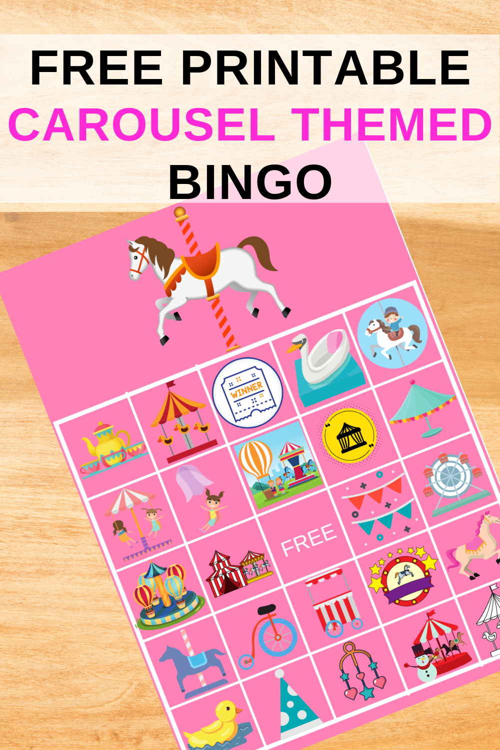 quick and easy carousel birthday party activity