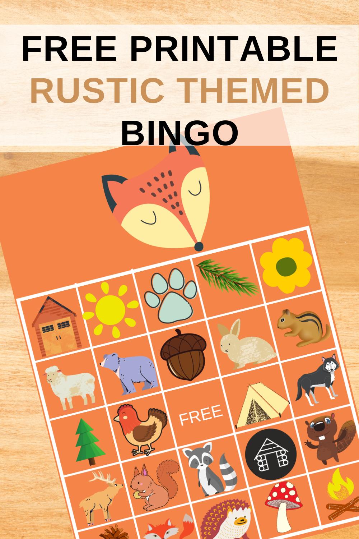 free printable rustic animal birthday party game ideas