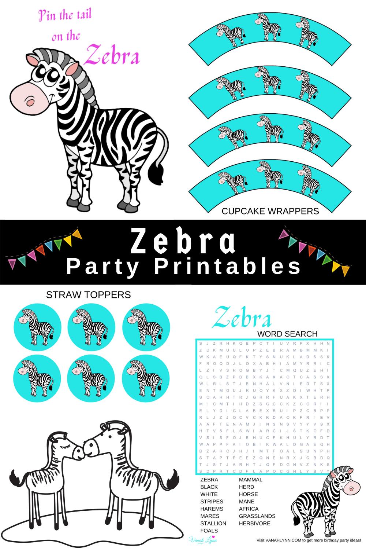 zebra 1st birthday ideas