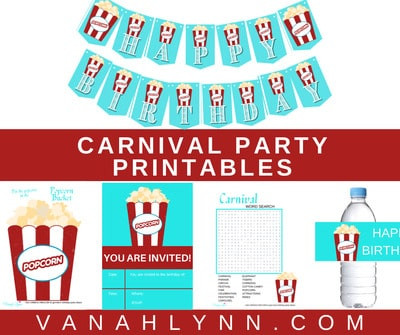 Carnival Theme Birthday Party Supplies That Are Totally FREE